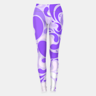 Thumbnail image of Lavender dreams, violet dancing drops, geometric shapes in lilac color shades Leggings, Live Heroes