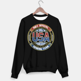 Thumbnail image of USA BEER DRINKING TEAM - OLD GLORY - Black Sweater Regular, Live Heroes