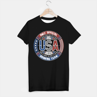 Thumbnail image of USA BEER DRINKING TEAM - STARS AND STRIPES - Black T-Shirt Regular, Live Heroes
