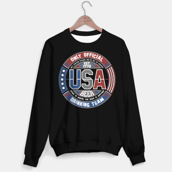 Thumbnail image of USA BEER DRINKING TEAM - STARS AND STRIPES - Black Sweater Regular, Live Heroes