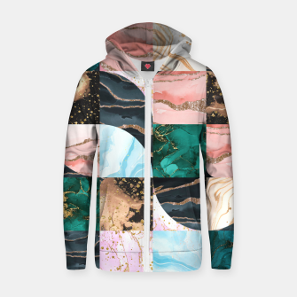 Marble Obsession Zip up hoodie thumbnail image
