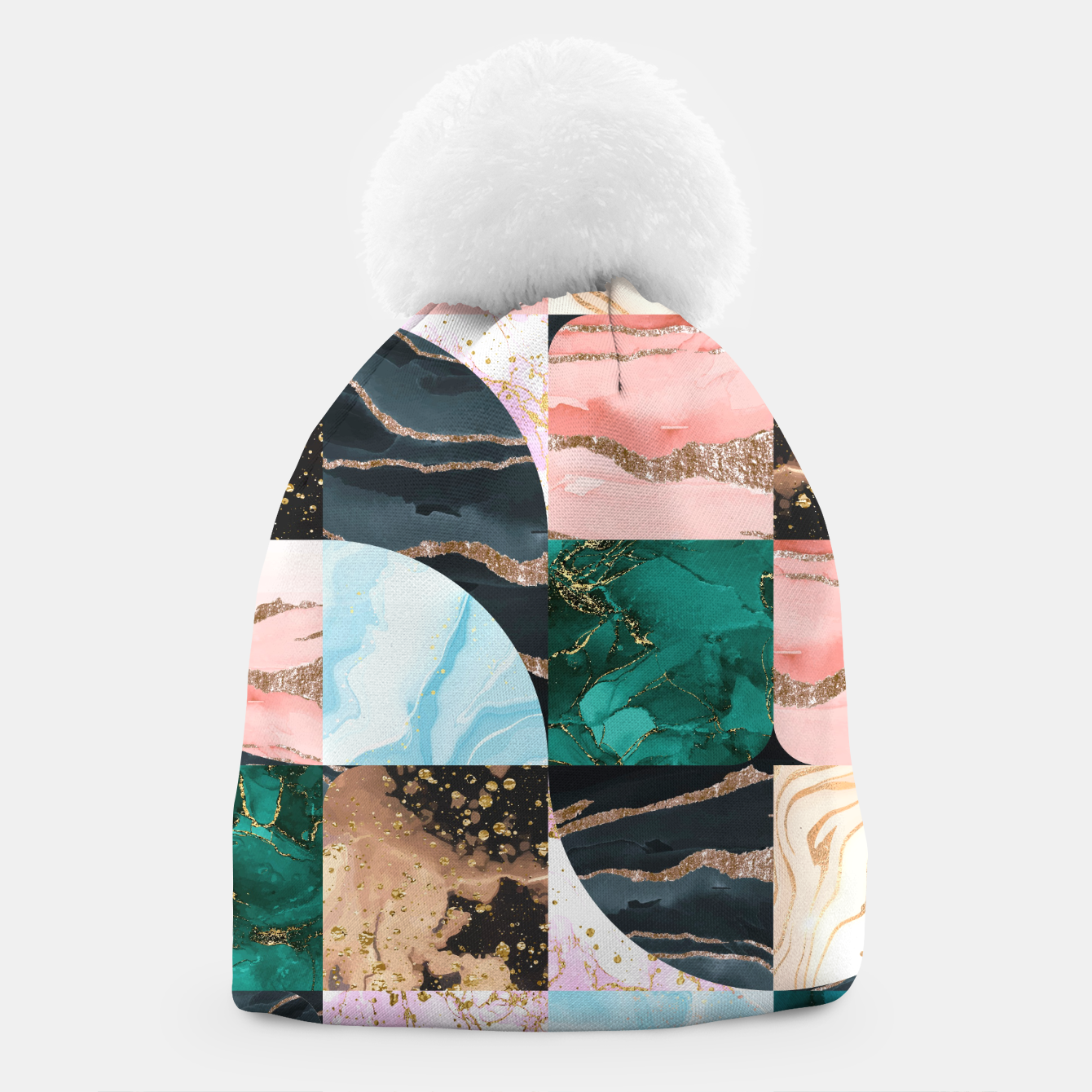 Image of Marble Obsession Beanie - Live Heroes