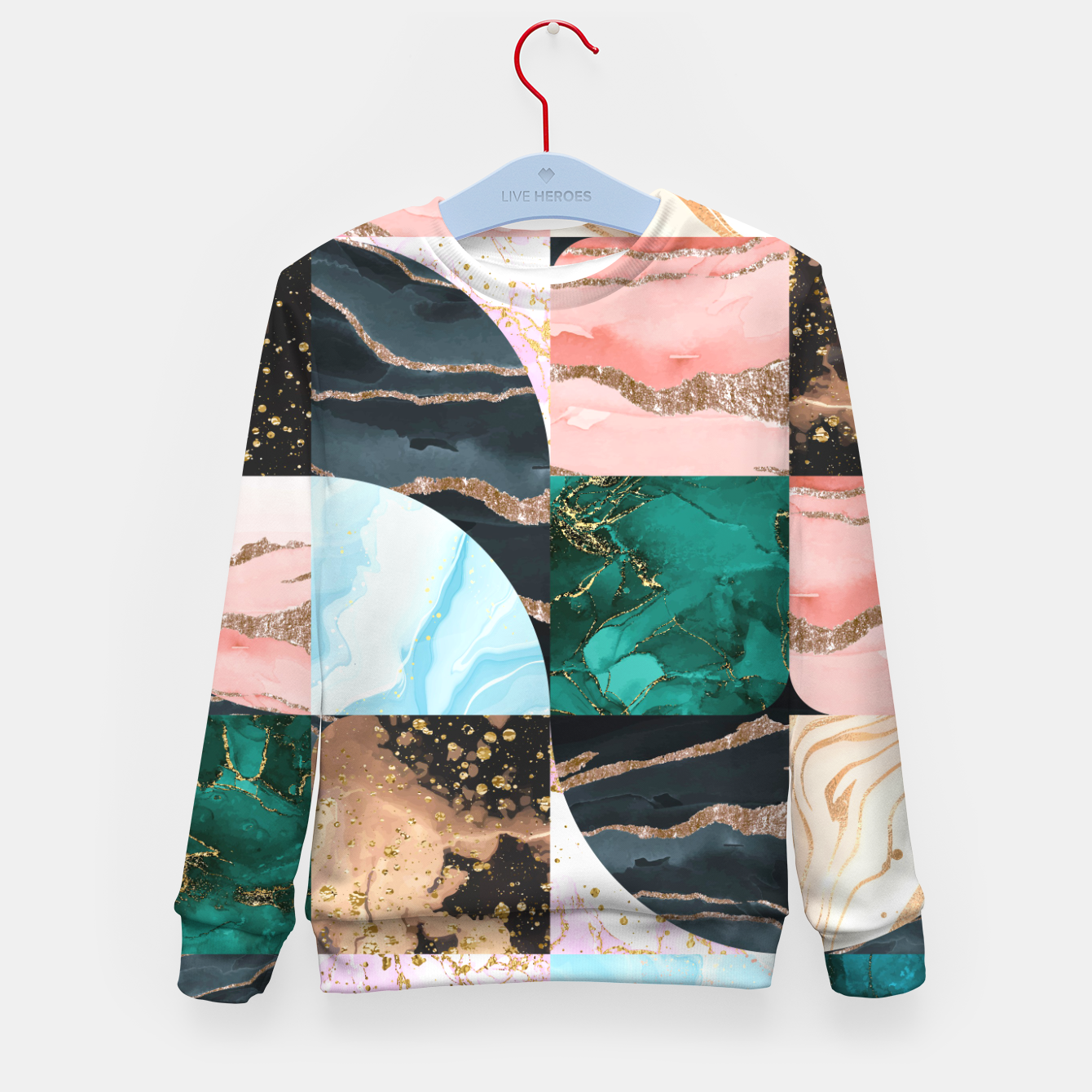 Image of Marble Obsession Kid's sweater - Live Heroes