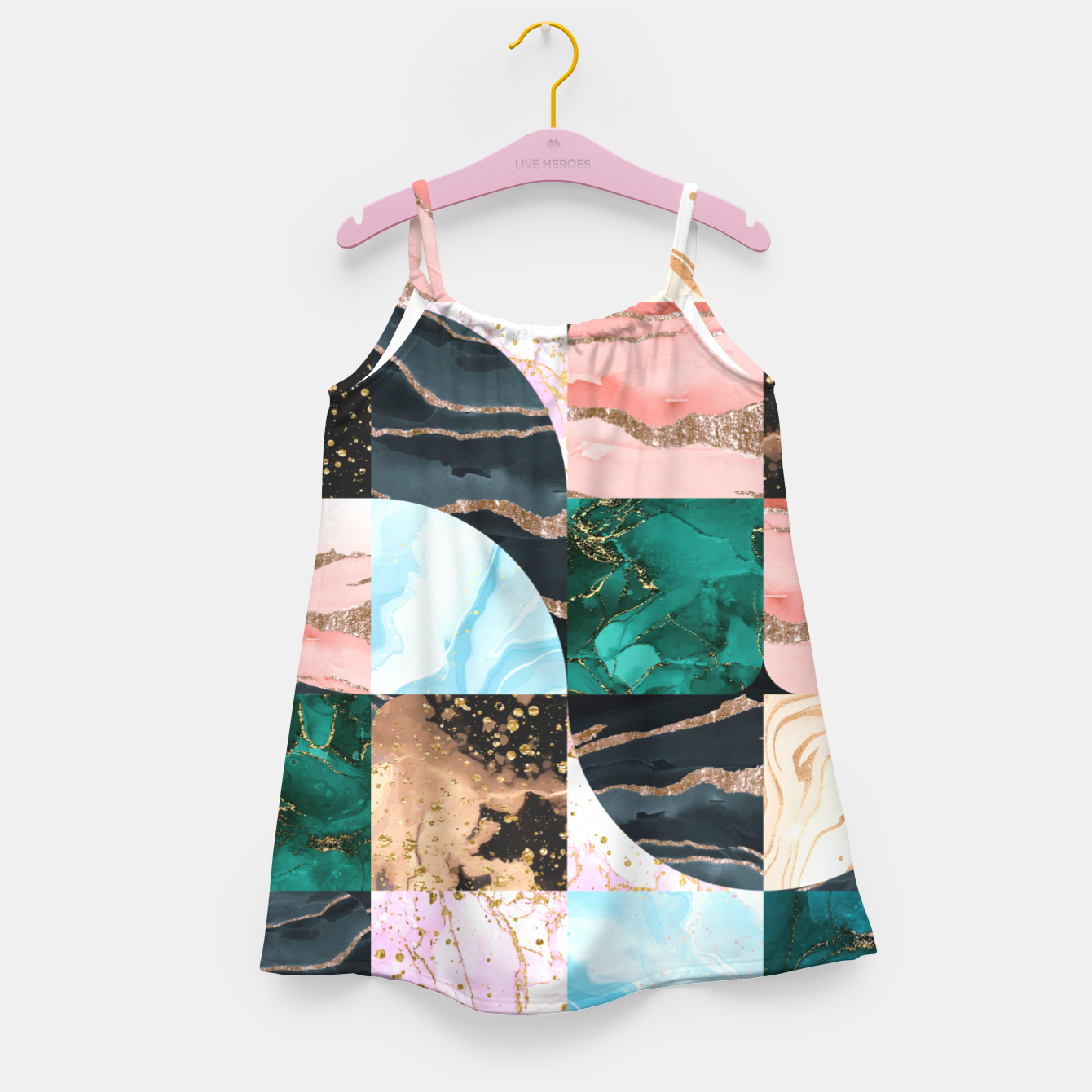 Image of Marble Obsession Girl's dress - Live Heroes