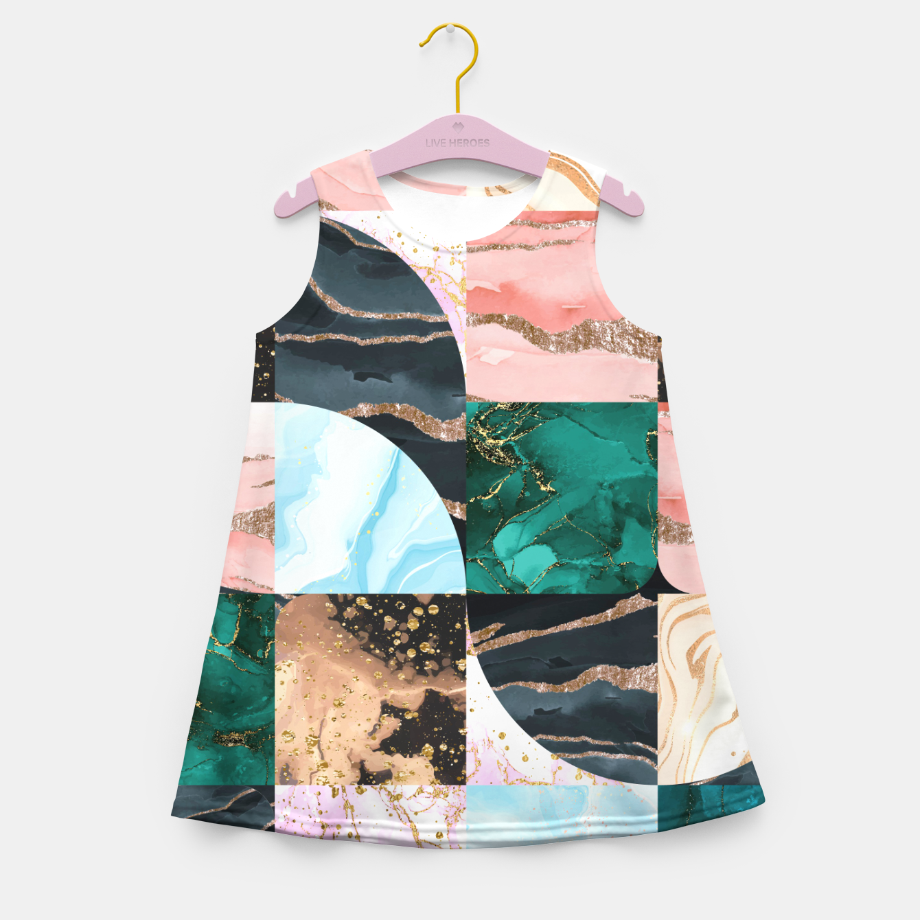 Image of Marble Obsession Girl's summer dress - Live Heroes