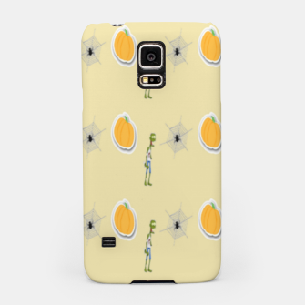 Thumbnail image of Halloween  pattern on brown Samsung Case, Live Heroes