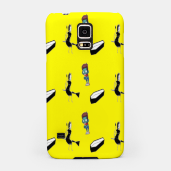 Thumbnail image of Halloween  pattern on yellow Samsung Case, Live Heroes