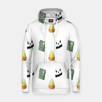 Thumbnail image of Halloween  pattern on white Hoodie, Live Heroes