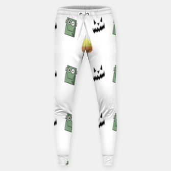 Thumbnail image of Halloween  pattern on white Sweatpants, Live Heroes
