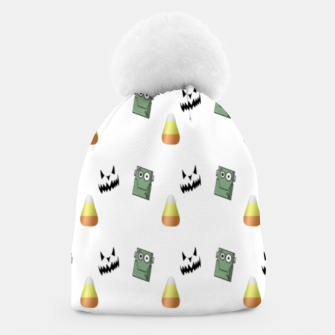 Thumbnail image of Halloween  pattern on white Beanie, Live Heroes