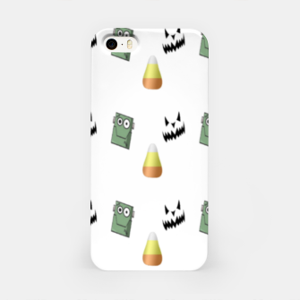 Thumbnail image of Halloween  pattern on white iPhone Case, Live Heroes