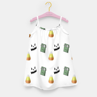 Thumbnail image of Halloween  pattern on white Girl's dress, Live Heroes