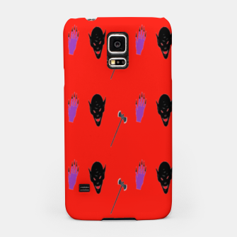Thumbnail image of Halloween  pattern on red Samsung Case, Live Heroes