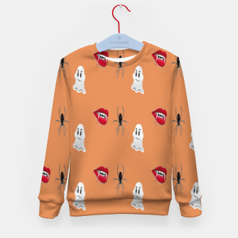 Thumbnail image of Scary halloween pattern Kid's sweater, Live Heroes