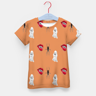 Thumbnail image of Scary halloween pattern Kid's t-shirt, Live Heroes