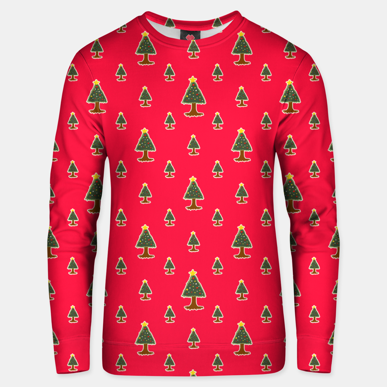Image of Sketchy Christmas Tree Motif Drawing Pattern Unisex sweater - Live Heroes