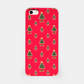 Thumbnail image of Sketchy Christmas Tree Motif Drawing Pattern iPhone Case, Live Heroes