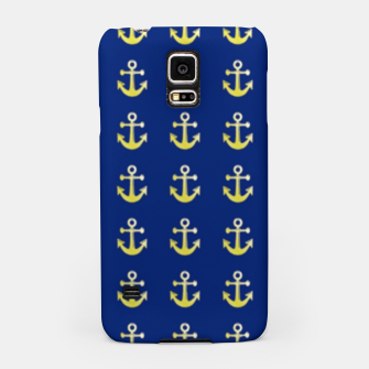 Thumbnail image of Gold anchor on blue Samsung Case, Live Heroes