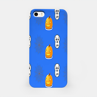 Thumbnail image of Halloween  pattern on blue iPhone Case, Live Heroes