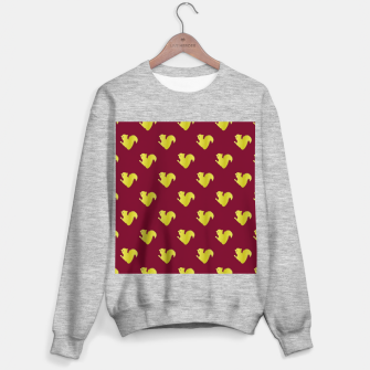 Thumbnail image of Gold squirrel on red Sweater regular, Live Heroes