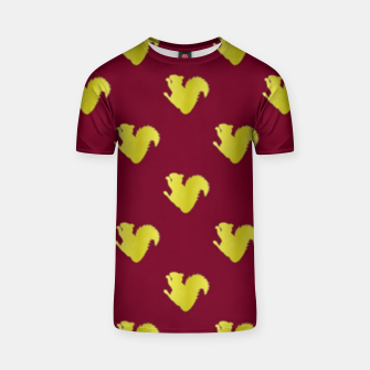 Thumbnail image of Gold squirrel on red T-shirt, Live Heroes
