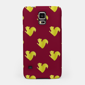 Thumbnail image of Gold squirrel on red Samsung Case, Live Heroes