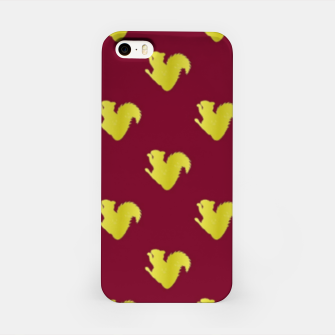 Thumbnail image of Gold squirrel on red iPhone Case, Live Heroes