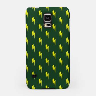 Thumbnail image of Yellow lightning bolts on green Samsung Case, Live Heroes
