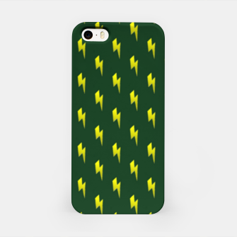 Thumbnail image of Yellow lightning bolts on green iPhone Case, Live Heroes