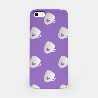 Thumbnail image of Silver mugs on purple iPhone Case, Live Heroes