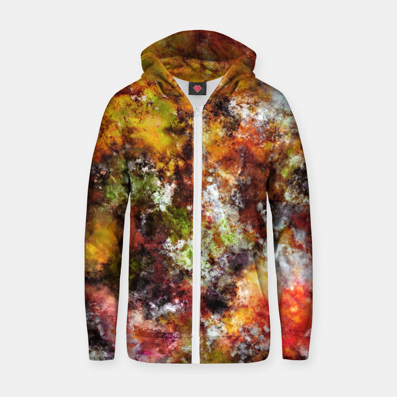 Image of A comfortable wall Zip up hoodie - Live Heroes