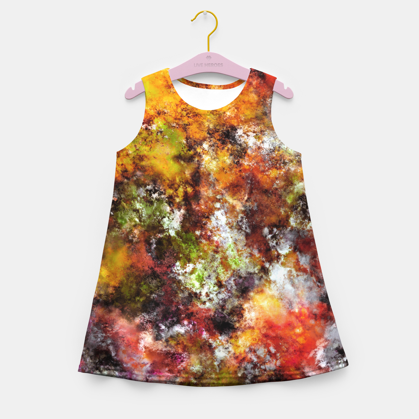 Image of A comfortable wall Girl's summer dress - Live Heroes