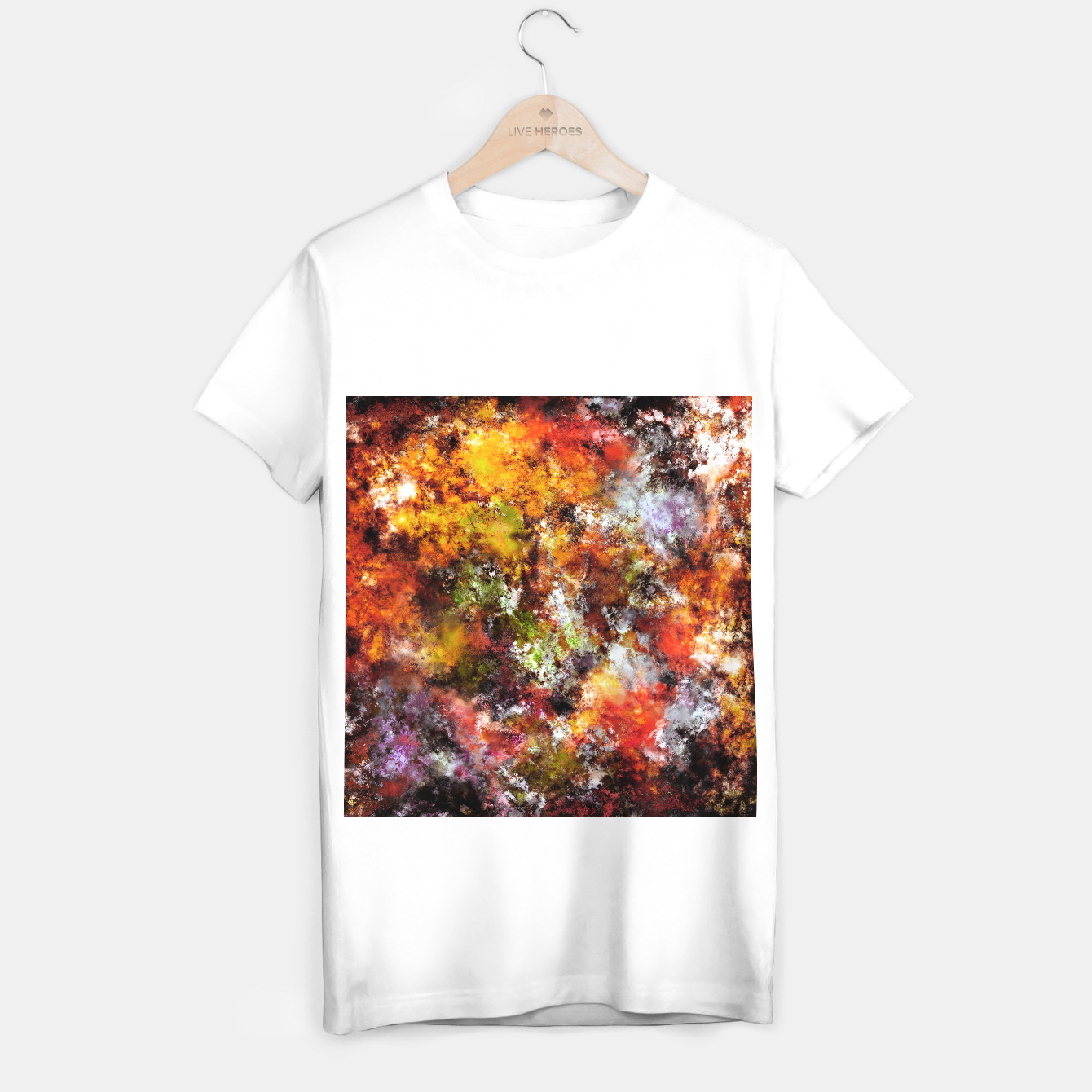 Image of A comfortable wall T-shirt regular - Live Heroes
