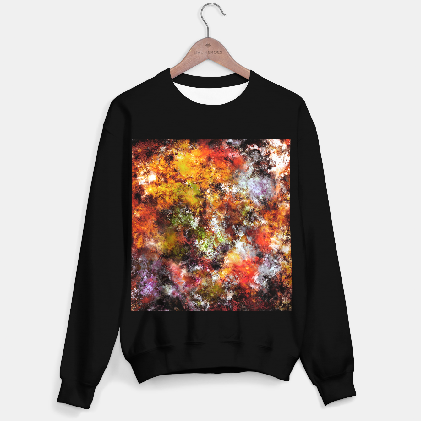 Image of A comfortable wall Sweater regular - Live Heroes