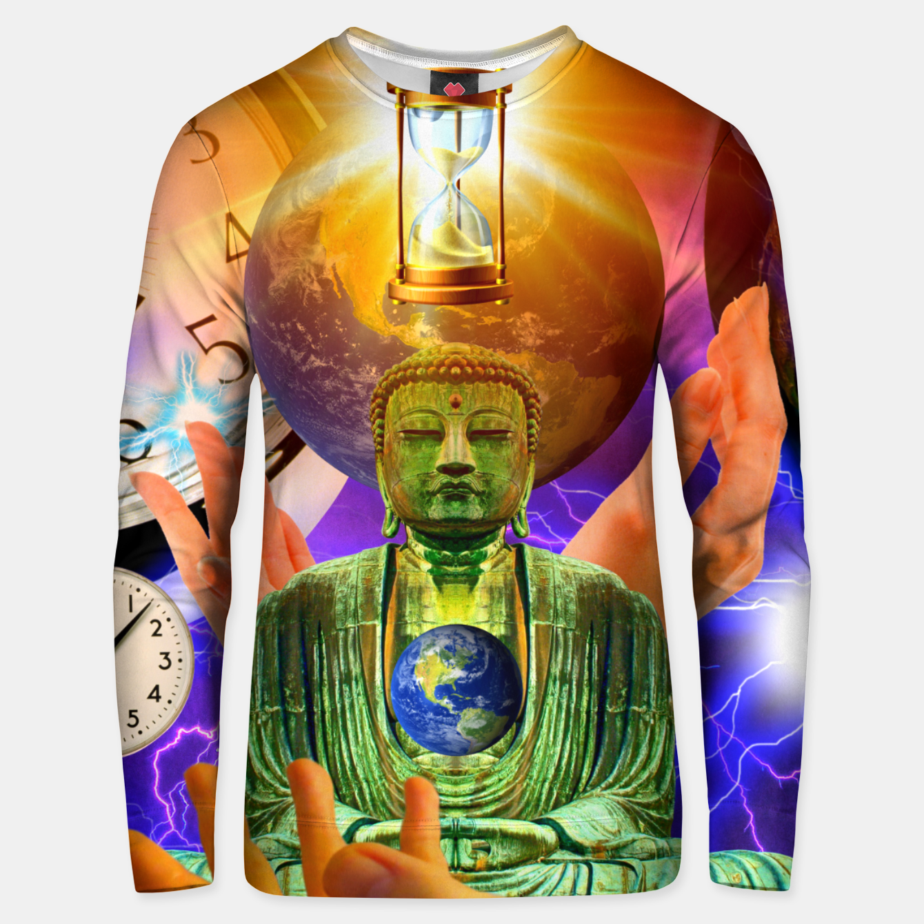 Image of BUDDHA TIME AND PLACE CROPPED Unisex sweater - Live Heroes