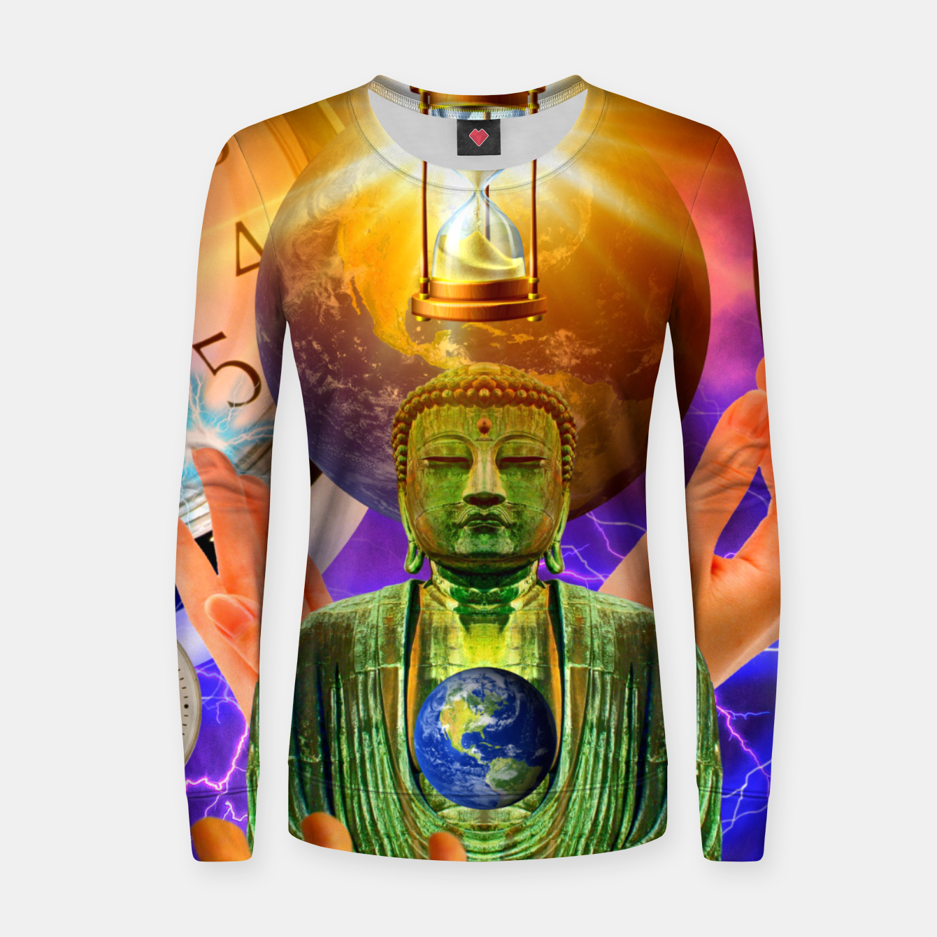 Image of BUDDHA TIME AND PLACE CROPPED Women sweater - Live Heroes