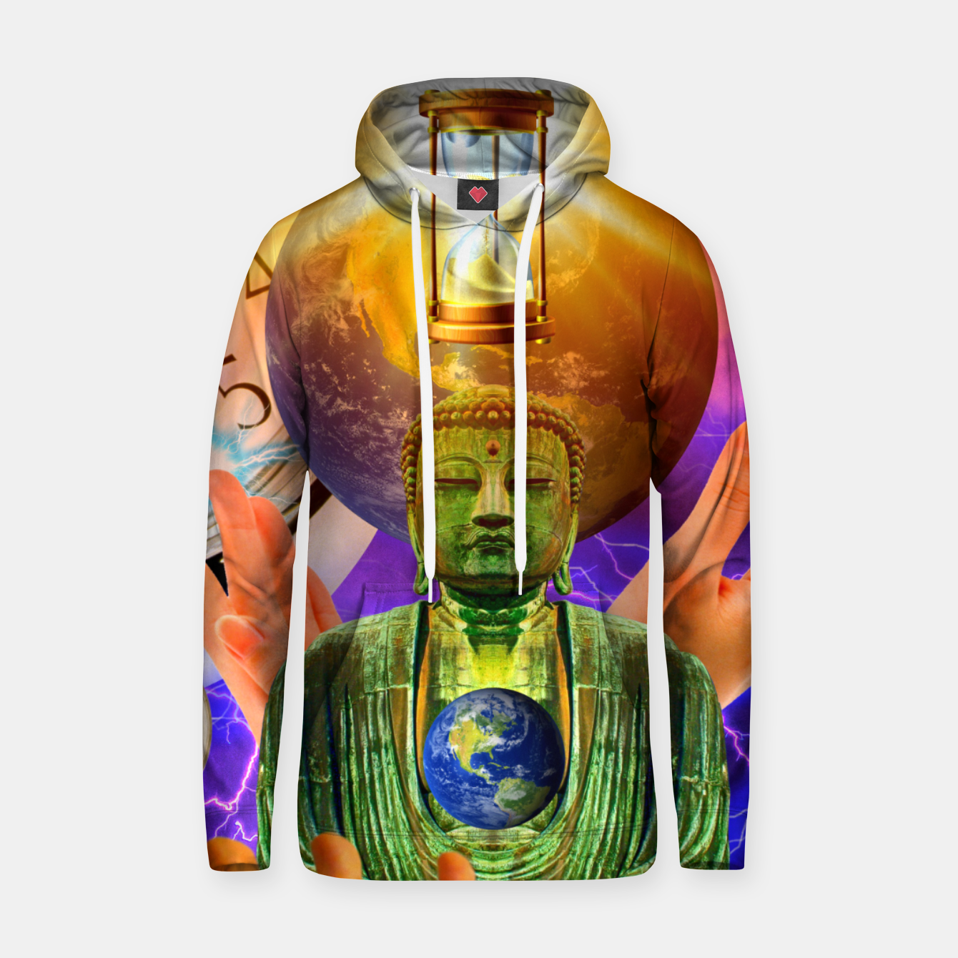 Image of BUDDHA TIME AND PLACE CROPPED Hoodie - Live Heroes