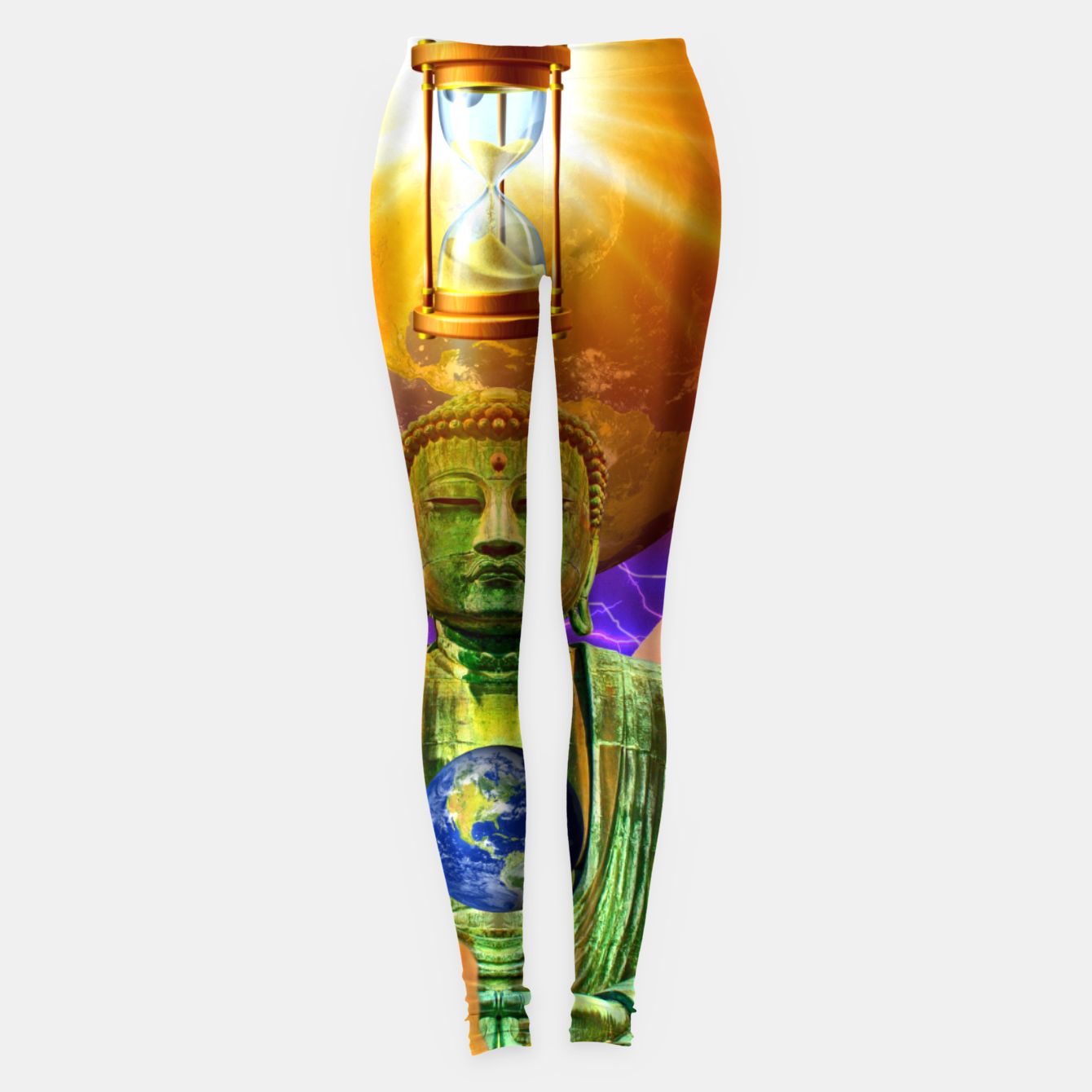 Image of BUDDHA TIME AND PLACE CROPPED Leggings - Live Heroes