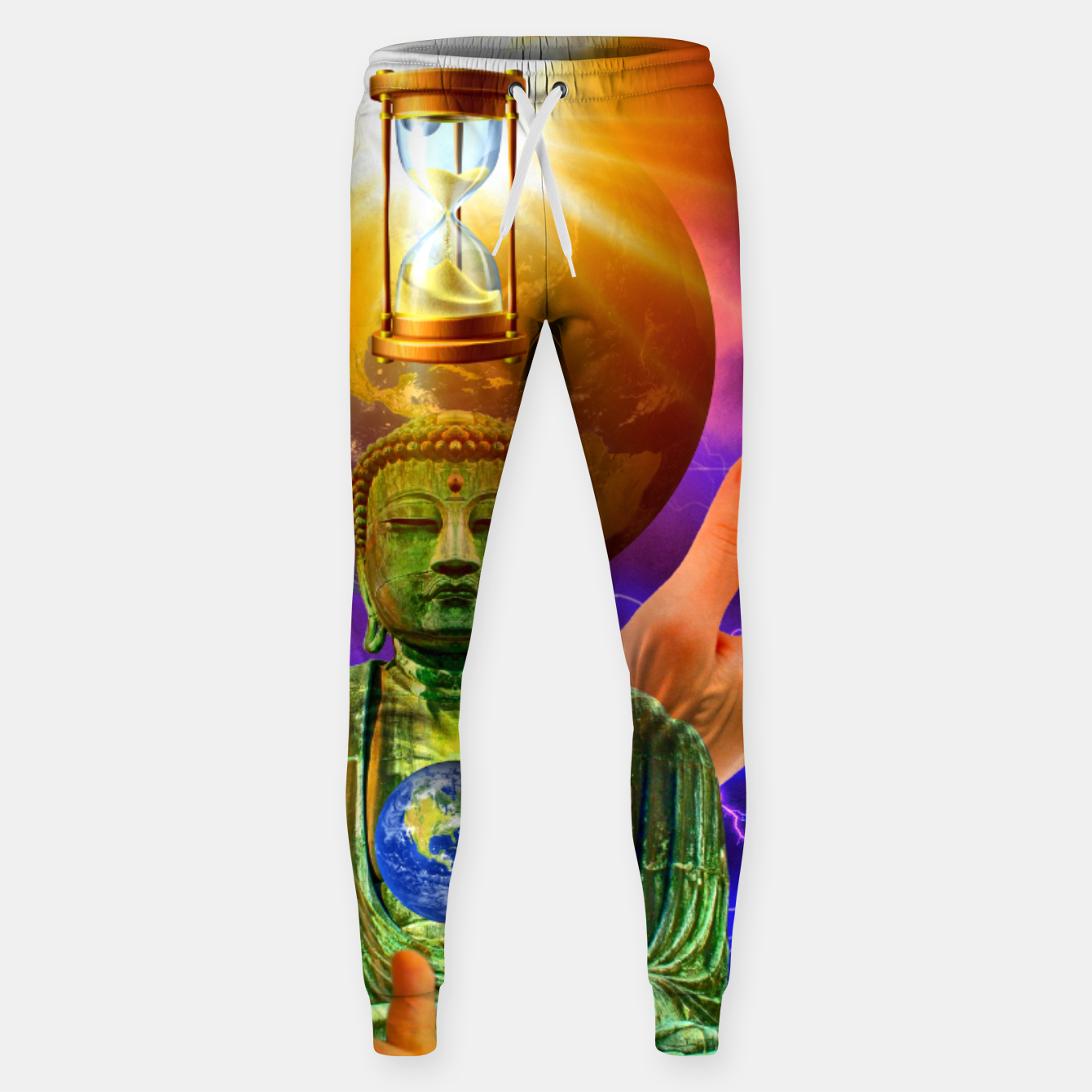 Image of BUDDHA TIME AND PLACE CROPPED Sweatpants - Live Heroes