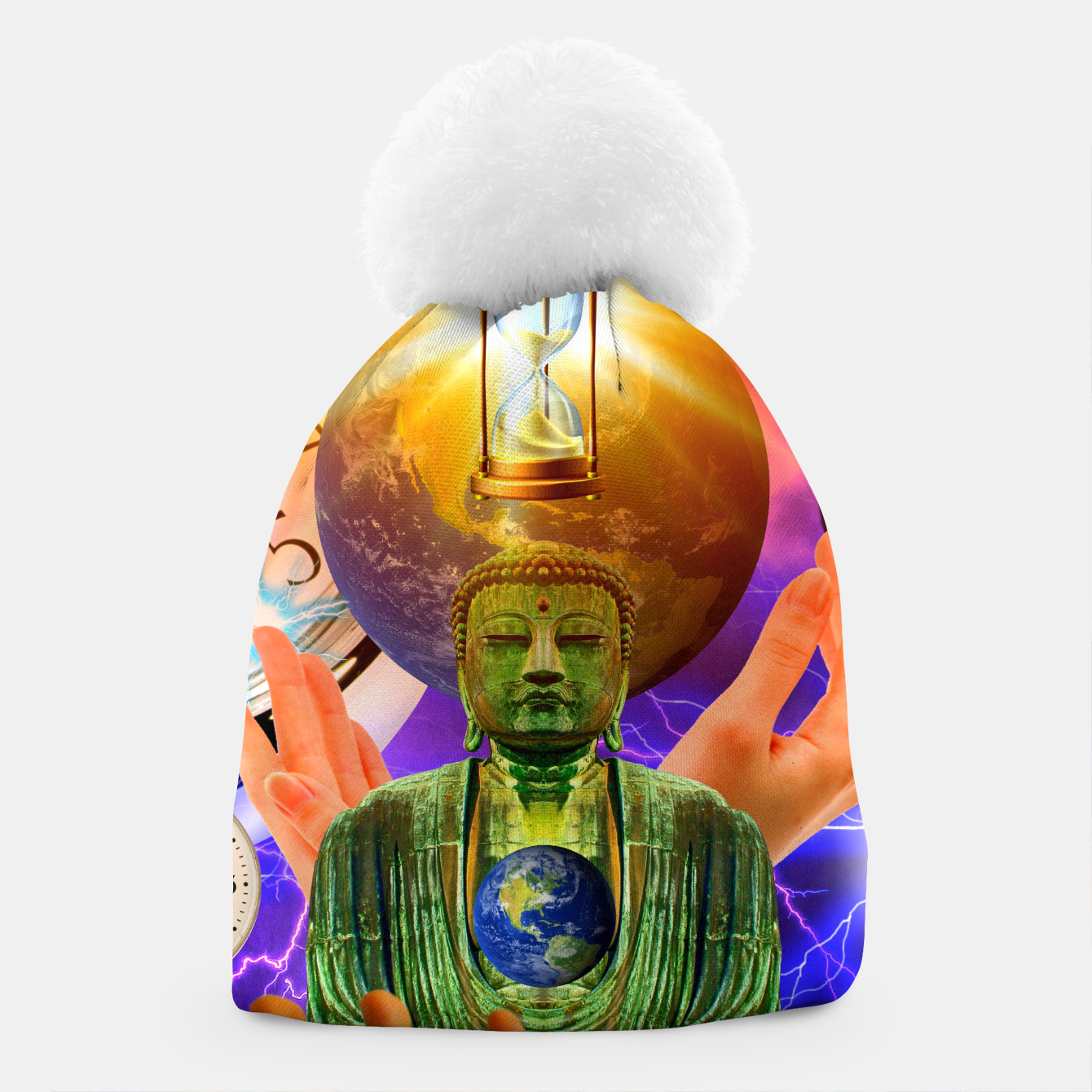 Image of BUDDHA TIME AND PLACE CROPPED Beanie - Live Heroes