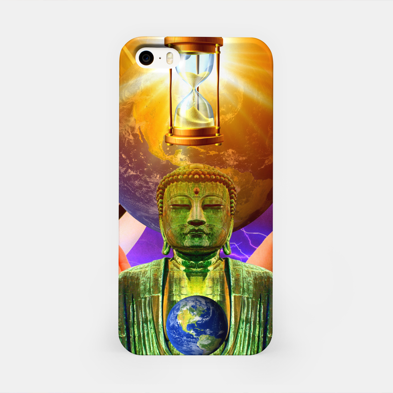 Image of BUDDHA TIME AND PLACE CROPPED iPhone Case - Live Heroes