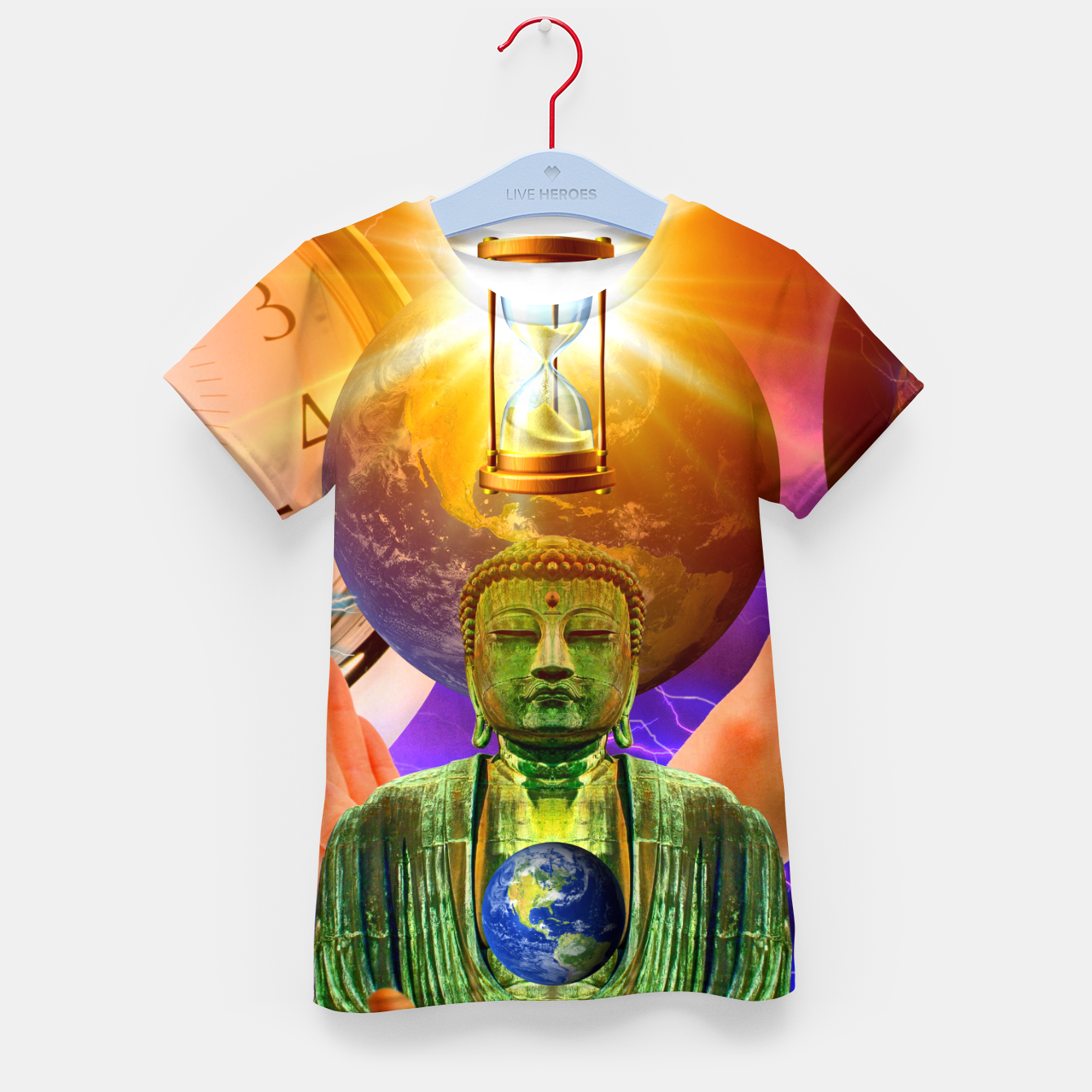 Image of BUDDHA TIME AND PLACE CROPPED Kid's t-shirt - Live Heroes