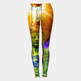 Thumbnail image of BUDDHA TIME AND PLACE CROPPED Leggings, Live Heroes