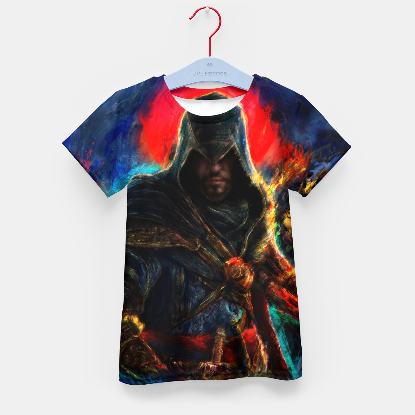 Image of assassin's creed ezio auditore Kid's t-shirt - Live Heroes