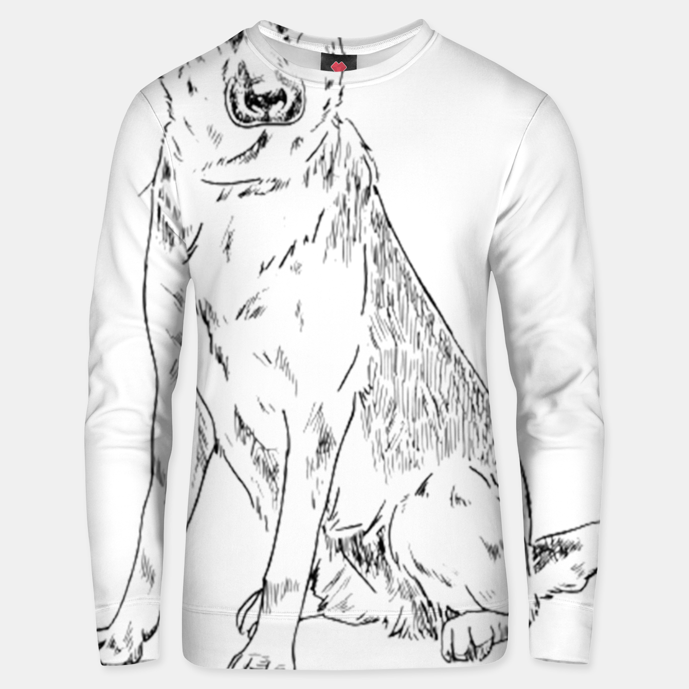 Image of  Hand Drawn Pet Dog Sketch Unisex sweater - Live Heroes