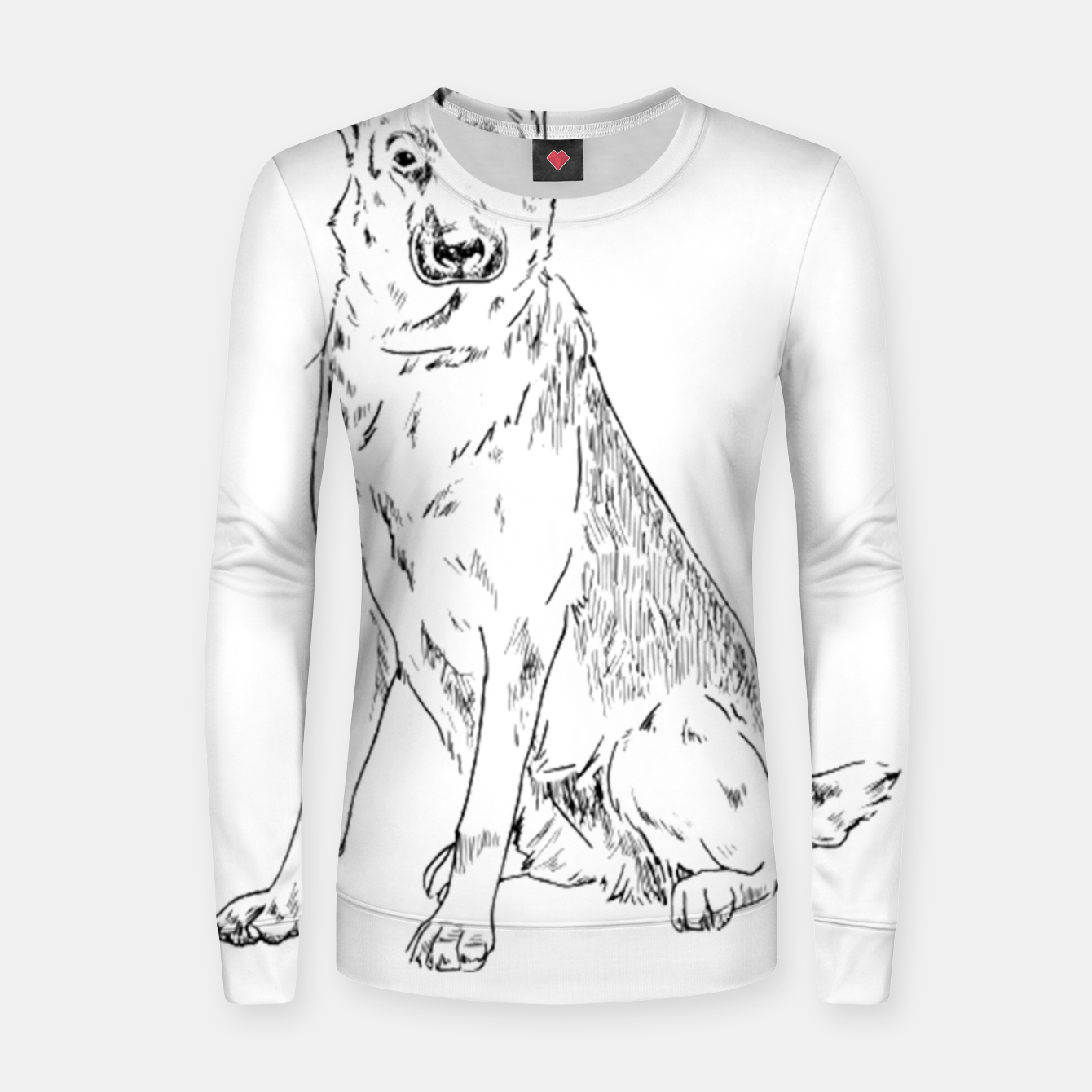 Image of  Hand Drawn Pet Dog Sketch Women sweater - Live Heroes