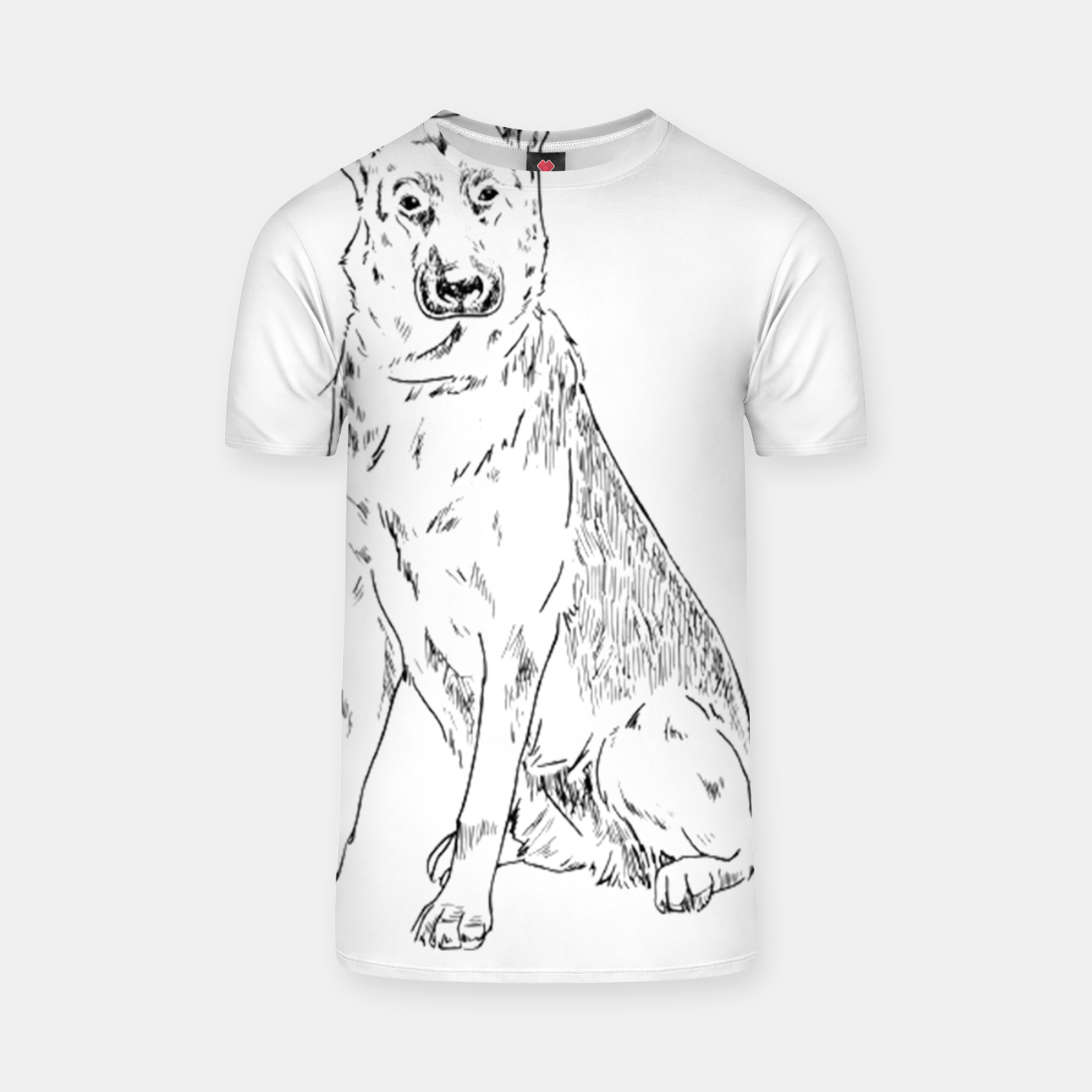 Image of  Hand Drawn Pet Dog Sketch T-shirt - Live Heroes