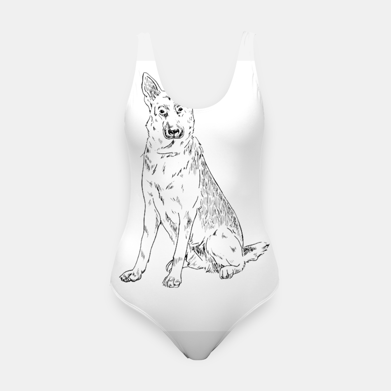 Image of  Hand Drawn Pet Dog Sketch Swimsuit - Live Heroes