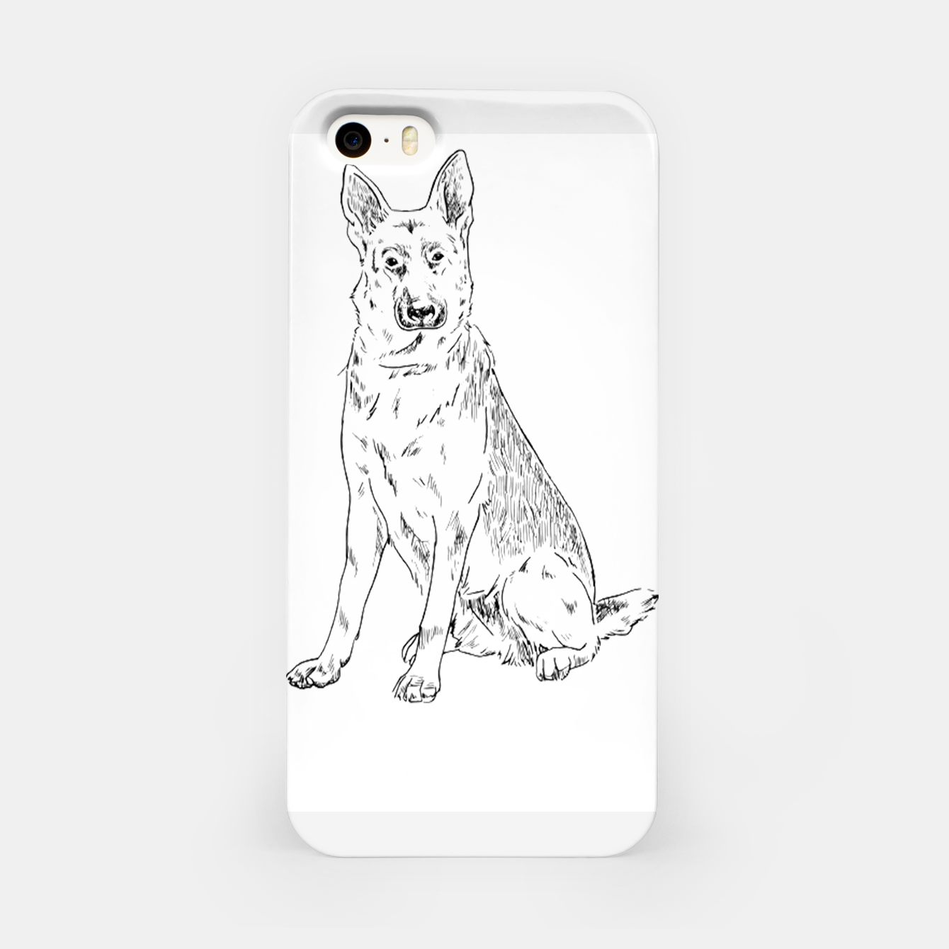 Image of  Hand Drawn Pet Dog Sketch iPhone Case - Live Heroes