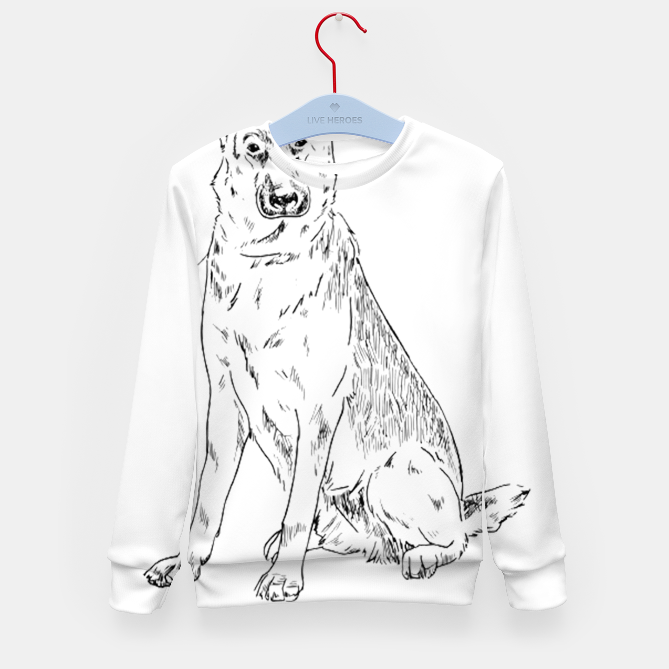 Image of  Hand Drawn Pet Dog Sketch Kid's sweater - Live Heroes